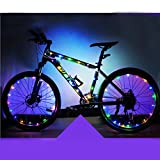 Forfar Luci da ciclismo a LED Luce della ruota Lampada per riflettori a strisce di bicicletta Le luci della bicicletta di riciclaggio