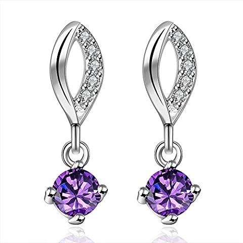 SunIfSnow Women Beautiful Cubic Zirconia Crystal Inlaid Lips Drop Earrings