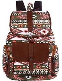 Vbiger Moda Mochila de Lona con diseño Casual para Mujer Bolsa de Viaje Mochila de a Diario