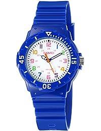 INWET Relojes para Niño Chico Reloj Deportivo para Niños Niña Impermeable 50M Relojes Infantil Azul