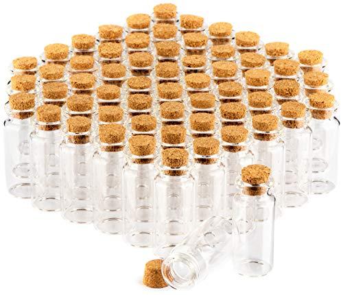 rzgläser-Set mit Korken, Mini Glasfläschchen, Bonbon Gläser Set, Aufbewahrung von Ölen, Gewürzen, Kräutern oder Tee ca. 10 ml (60 Stück) ()