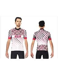 CCN JSS050 Short Sleeve Cycling Men's Jersey, Super Light Weight, Super Cool , Pro Cutting for Professional Biker