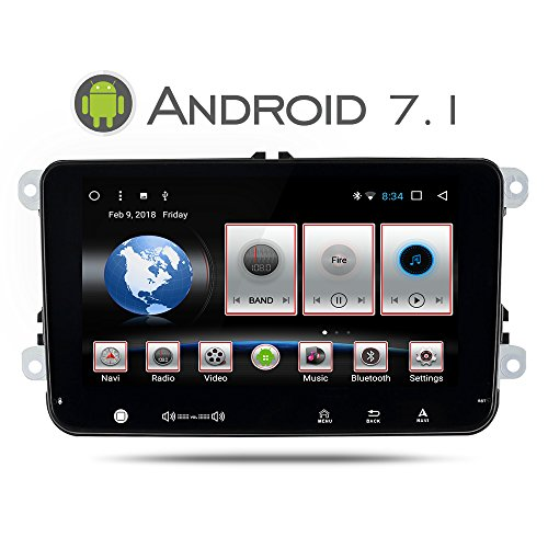 Yingly Android 7.1 Autoradio GPS para VW Golf Seat Jetta Passat Polo...