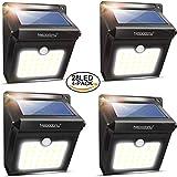4Pack 28 LEDs Solarleuchten für Aussen, Neloodony [400 Lumen] Superhelle mit Bewegungsmelder Wasserdichte Solarleuchte Garten, Solarlampe für Wände, Auffahrt Innenhof,Hof,Flur,Veranda