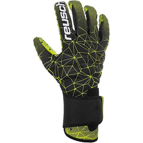 Reusch Pure Contact G3 Speed Bump - Guanti da Portiere da Uomo, Uomo, 3970000, Black/Lime Green, 9