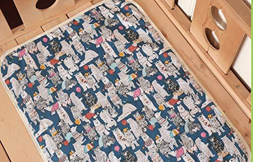 Doublure de matelas à langer pour bébé, matelas à langer portable, doublure imperméable, tapis de voyage durable et lavable, idéal pour le changement de couches de bébé.