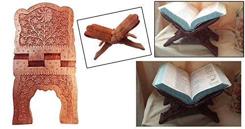 En bois pliant religieux livre support titulaire Sun Flower Design incurvé, jour de Pâques/fête des mères/bon vendredi cadeau