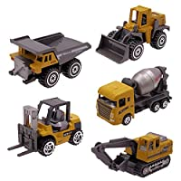 Kid Diecast Metal Cars Engineering Vehicles Set, Construction Toys for 3 Year Olds Boys Sand Pit Play