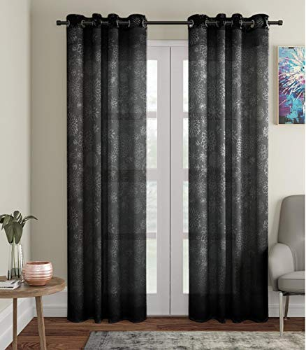 check MRP of black curtains sheer JVIN FAB online 14 December 2019