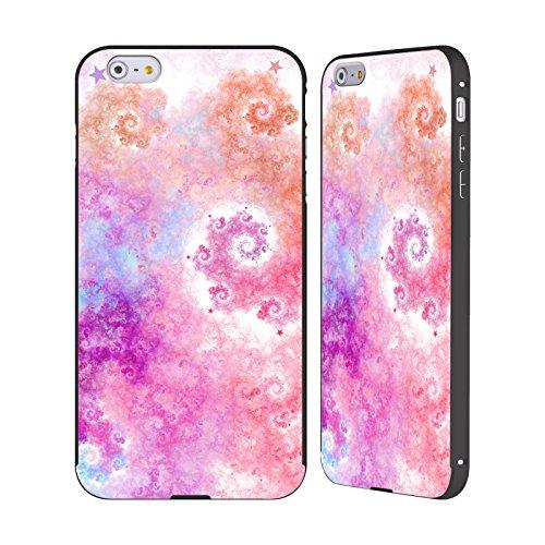 Ufficiale Eli Vokounova Zucchero filato Arte Frattale Nero Cover Contorno con Bumper in Alluminio per Apple iPhone 6 Plus / 6s Plus