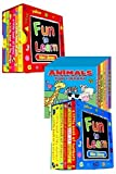 Mini Library Board Books - Bumper End of Season Sale - Special Bumper Gift Pack for Toddlers, Children, Babies - 2 x Fun to Learn Board Book Sets - Red & Blue - Animals Board Book Mini Library - 18 Board Books Collection Set - RRP £15.96 - Yours for Just £8.99 - While Stock Lasts!