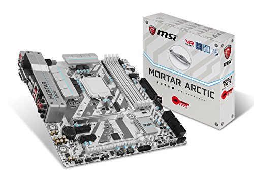 MSI H270M Mortar Arctic - Placa Base Arsenal (Chipset Intel H270, DDR4 Boost, Audio Boost, VR Ready, Military Class V)