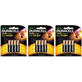 Duracell Alkaline AAA Battery with Duralock Technology - 12 Pieces (Black/Brown)