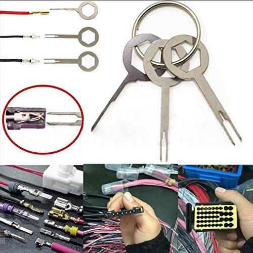 Preisvergleich Produktbild Sedeta® Hot 3pcs Terminal Removal Tool Schlüssel Pin Wire Crimp Stecker Pin Extractor Kit