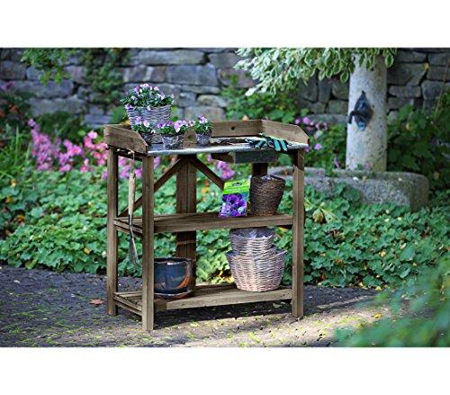 Dehner Gute Wahl Holzpflanztisch Ottawa, klappbar, ca. 91 x 85 x 49 cm, Holz, braun