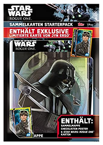 Topps d105819 de – Star Wars Rogue One Cartes à Collectionner Starter Pack,