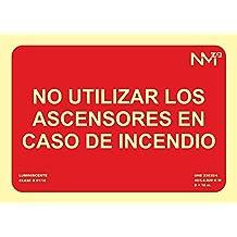 Normaluz RD01129 - Señal Luminiscente No Utilizar los Ascensores en Caso de Incendio Clase B PVC