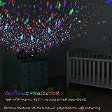 Sternenhimmel Projektor Eiförmige Kinderlampe mit Timer 8 Farbkombinationen 4 LED Birnen 2 Aufladungmethode 360 Grad Rotation Kindergeschenk mit Starry Stern Mond Perfekt für Geburtstag Kinder Zimmer - 4