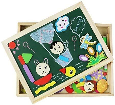 Magnetico Lavagna Puzzle di Legno Giochi Montessori Magnetica Lavagnetta a Double Face Magnetica Puzzle Apprendimento… 5 spesavip