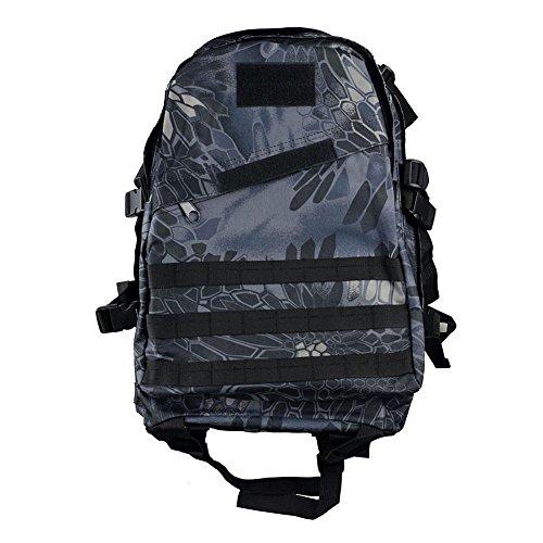Outdoor Bergsteigen Tasche 40L3D Militär Tarnung Rucksack Klettern Wandern täglich Camping Taschen und Taschen python black
