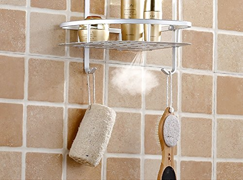 Mensole ad angolo per bagno in lega d\'alluminio, mensola ...