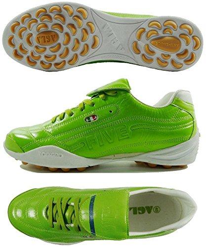 AGLA FIVE OUTDOOR PROFESSIONAL TOP Chaussures de football en cuir avec anti-choc Vert - vert