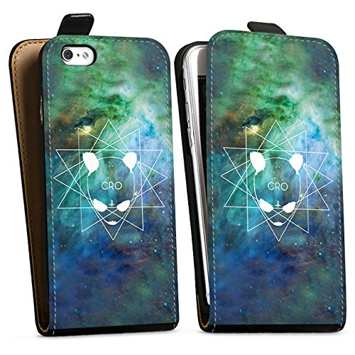 Apple iPhone X Silikon Hülle Case Schutzhülle Cro Merchandise Fanartikel Galaxycro Downflip Tasche schwarz