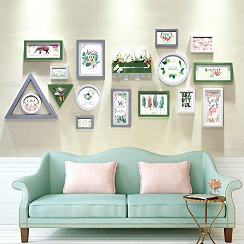 Home @ Wall Bilderrahmen Foto Wand Kreative Kombination Von Modernen Minimalistischen Wohnzimmer Schlafzimmer Bilderrahmen Wand Massivholz Wand Decoratio Foto Wand ( Farbe : C , größe : 95*210cm )