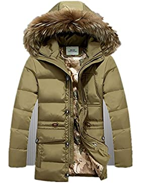 MHGAO Invierno Nuevo estilo de lana larga Padded Collar Capa Caliente , 3 , xl
