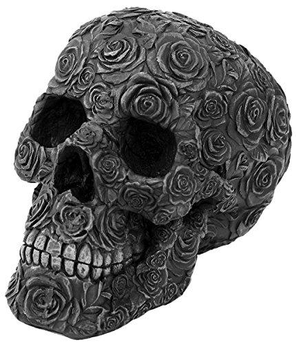 Black Rose Death Teschio decorativo standard