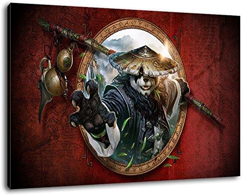 World of Warcraft Format 120x80 cm Bild auf Leinwand, XXL riesige Bilder fertig gerahmt mit Keilrahmen, Kunstdruck auf Wandbild mit Rahmen