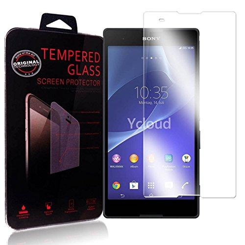 Ycloud Panzerglas Folie Schutzfolie Bildschirmschutzfolie für Sony Xperia T2 Ultra screen protector mit Härtegrad 9H, 0,26mm Ultra-Dünn, Abger&ete Kanten
