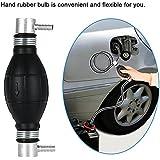KKmoon Bomba de Combustible Manual Gasolina y Diesel de Filtro en Línea para Coche Barco Marino (12mm/10mm/8mm/6mm)