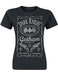 Batman T Shirt Gotham Protector dark knight Oficial De las mujeres nuevo Skinny