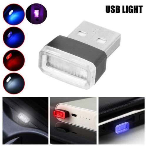 Beatie LED Voiture Interieur /éclairage Atmosph/ère Lumi/ère 2 pcs Mini USB d/écorative Lampe Universal pour Voitures//PC//Ordinateur etc