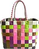 Einkaufstasche geflochten mit Henkeln - Tragetasche extra robust Farbe Classic / Orchidea