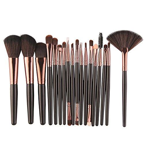 Efforty 2018 NEUE Make-Up Pinsel 18 STÜCKE Gesicht Kabuki Make UP Kosmetik Pinsel Weichen Nylon Borsten Foundation Erröten Lidschatten Pinsel (C) (Trocken-shadow Nass Brush /)