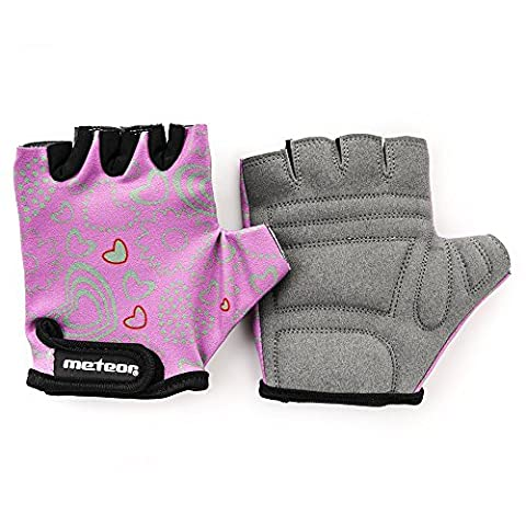 Kid's Cycling Gloves With Short Half Fingers Velcro Fastened Children