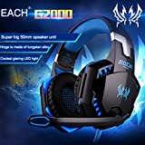 ArkarTech Gaming Headset Microphone PC Headphone Gamer with Mic LED 3.5mm Stereo G2000 for PC Computer Game With Noise Cancelling & Volume Control