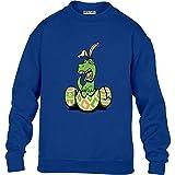 Witziges Präsent T-Rex Pullover mit Häschenohren Kinder Pullover Sweatshirt Small Blau