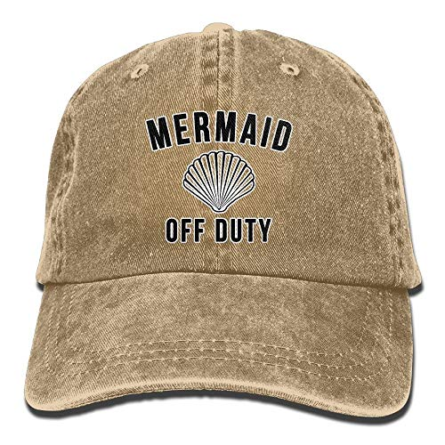 ASKYE Mermaid Off Duty with Fish Tail Retro Cowboy Hat Sports Adjustable Denim Hat Baseball Caps ForAdult (Tail Mermaid Skirt)