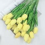 ZTTLOL 2 Stücke Pu Tulip Blume Royal Flower Touch Blumen Blumenstrauß Aus Künstliche Blumen Für Die Geburtstagsfeier Dekoration