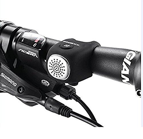 MASLEID Fahrradklingel Elektronisch E-Klingel Miniklingel Glocke IPX4 Wasserdicht Aus Elastischem Silikon 90Db,Black