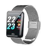 Smart Watch (1,3 Großbildschirm) Pedometer, Bluetooth Wasserdichte Herzfrequenzüberwachung Schlaf Multifunktionssport, Spezielle Clip-On-Ladelinie, Schwarz, Silber,Silver