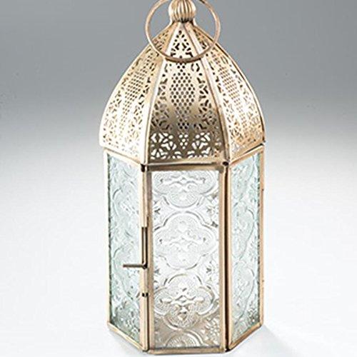 Latón envejecido, diseño de farol de estilo marroquí