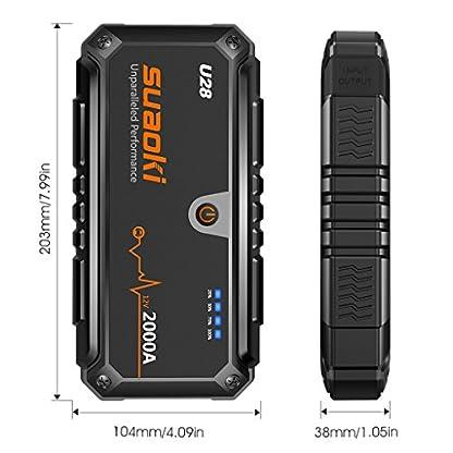 51Oc7R%2Bv11L. SS416  - SUAOKI u282000A Punta De Auto Arranque batería de Arranque, con USB Power Bank, Pantalla LCD