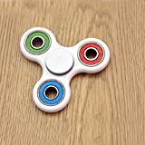 Tri Fidget Hand Spinner Toy,Stress Reducer Ultra Durable High Speed Ceramic Bearing Fidget Finger Toy Can Continue to Rotate for 2-4 minutes - Perfect for ADD / ADHD / Anxiety / Autism And Stress Relief Adult Children,Office Desk Gadget (3-color)