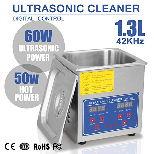 BuoQua 1.3L Pulitore Ad Ultrasuoni Display Digitale Ultrasuoni Bagno Ultrasuoni Dispositivo Con Timer Digitale 1.3L