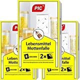 PIC Food Moth Trap – Pack of 6 – Against Moths in the Kitchen and Storage Spaces