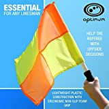 OPTIMUM Optimales Training Schiedsrichterassistenten Flagge Set, Orange/Gelb